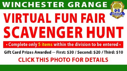 Let's have some fun and take some photos!  Choose 5 or more items, go on a scavenger hunt and find them, then upload photos of your entries to win prizes.  Click for the details.